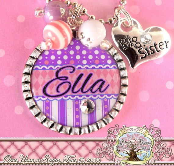 BIG SISTER NECKLACE Girls Personalized Big Sister Charm