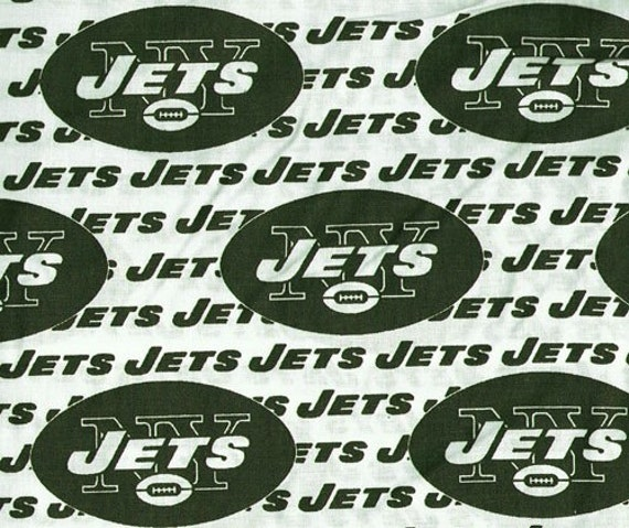 1 yard cotton fabric, New York Jets, by Fabric Traditions