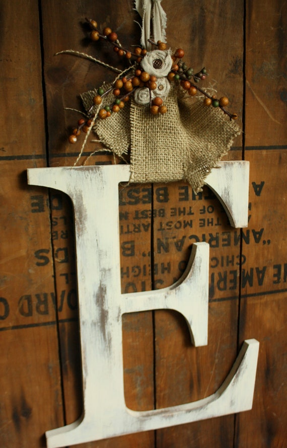 Autumn large letter Door Hanger Fall wedding decor-CHOOSE LETTER