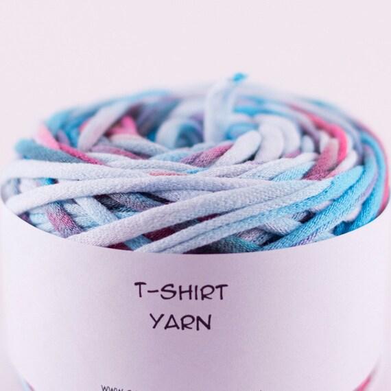 Cotton Tshirt Yarn, Dr Seuss Tie Dye, 40 yards, 7 wpi (T196)