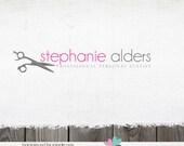 Customized Premade Logo - Scissors Shears Stylist Hair Salon Logo Design