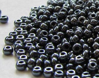 Preciosa Czech Seed Beads 11/0 Iris Pewter