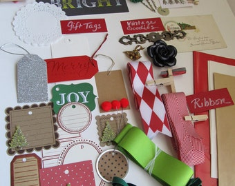 SALE, SALE, SALE! Holiday Gift Wrap  Kit--45 pc set--plus a few extra goodies.