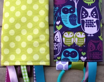 Woodland Owls on Purple Drool Pads