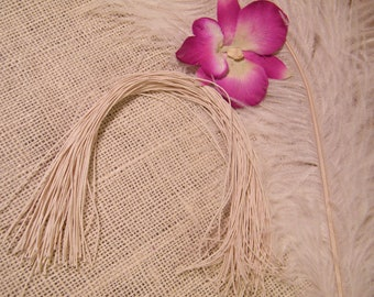 100 Ivory Cotton String for Gift Tags- 12 Inches Long -Packaging Supplies - Natural - Pre-cut and Ready to Use