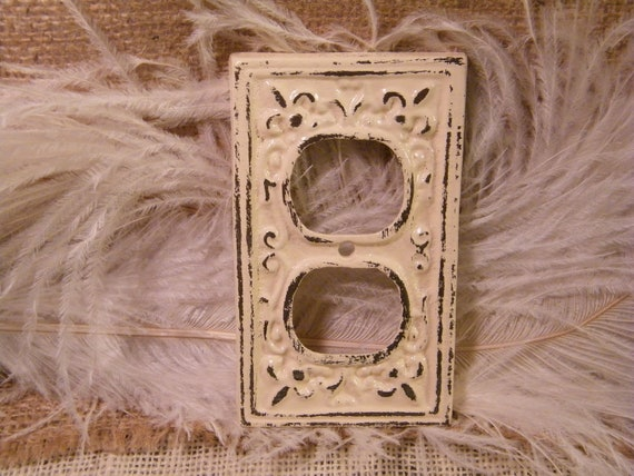 electric outlet cover plate decorative plate ivory cream you pick the finish high - Decorative Outlet Covers