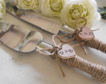 Country Chic Rustic Barn Farmhouse Wedding Cake Server And Knife Set