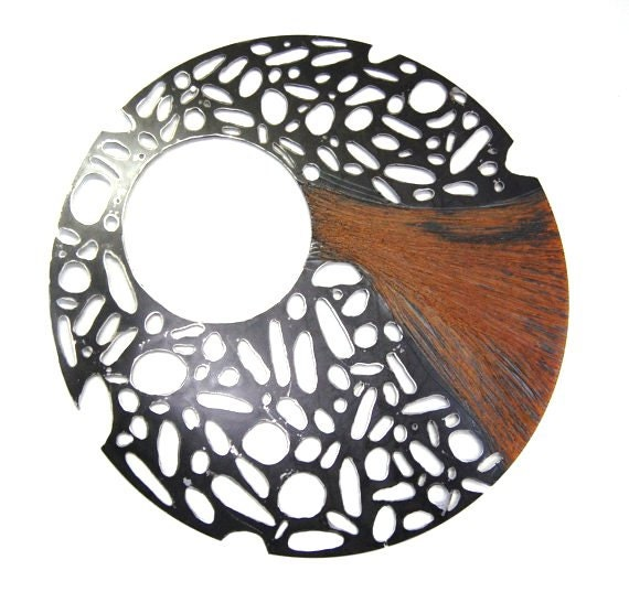 Steel SculptureRecycled Metal Wall Art Round