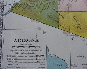 Map original vintage 1911 Arizona