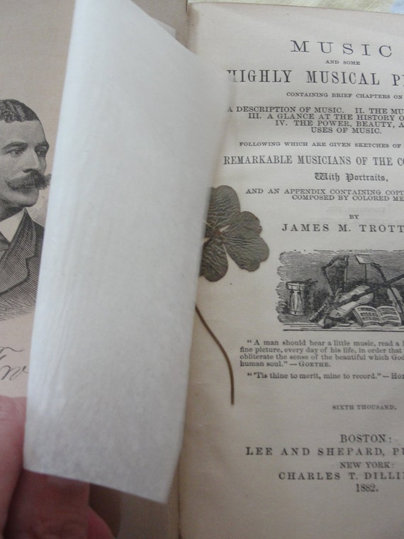 Rare book Music and some Highly Musical People by James M. Trotter
