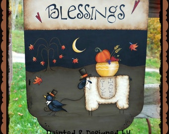 E Pattern - Blessings - LAST NEW Fall design for 2012 - Thanksgiving - Designed & Painted by Sharon Bond - FAAP