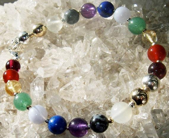 Round Rainbow Chakra Bracelet