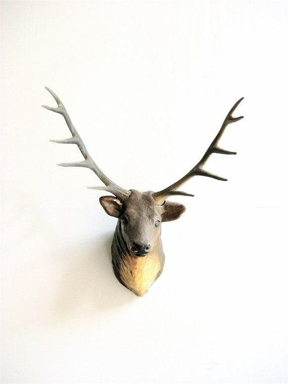 Vintage Faux Deer Head Taxidermy