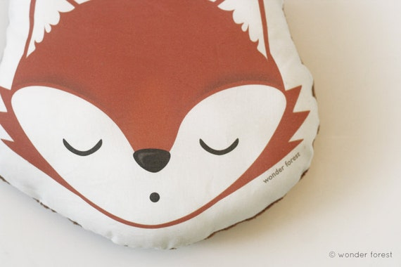 Fox Pillow Plush - Unique Holiday Home Decor / Cute Kawaii Plush Toy Fox / Animal decoration