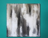 "15% OFF, now through 3/6/13. Enter code 15OFF at checkout. Abstract Painting 24"" x 24"" Metallic Gold, Black , White"