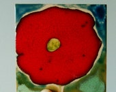 Red, Blue & Grenn Poppy Ceramic Tile