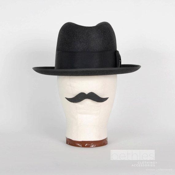 Hat Mens Black Homburg by Royal Stetson Vintage 50s