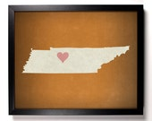 State Love Tennessee, Home, Kitchen, Nursery, Bath, Dorm, Office Decor, Wedding Gift, Housewarming Gift, Unique Holiday Gift, Wall Poster