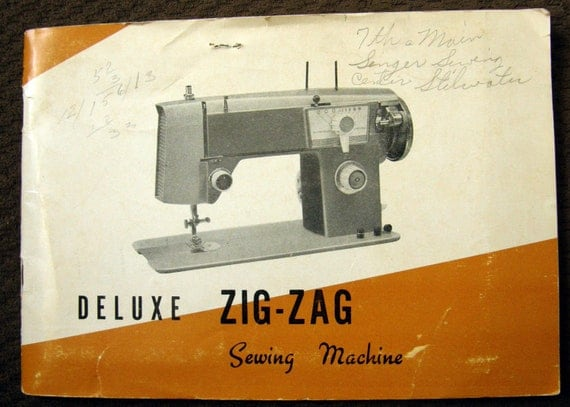 Nelco deluxe zig zag sewing machine manual model s 700 b printed in