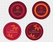 Thanksgiving Themed Party Circles - DIY Printable