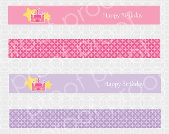 Party Printable Princess Party Mini Flags