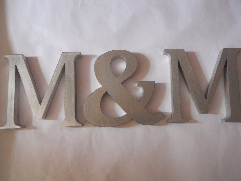 Wedding Wooden Letters Initials Monogram By SummerOlivias