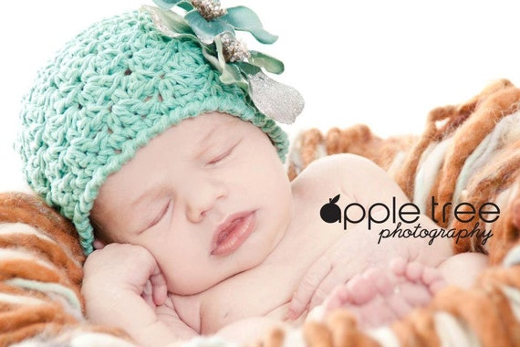 Crochet Pattern for Victoria Beanie Hat - 6 sizes, baby to adult - Welcome to sell finished items