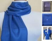Pashmina, True Blue Pashmina, Shawl, Wrap, bridal shawl, bridesmaids shawl, bridal gift