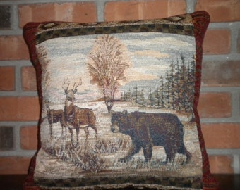 Fathers - Deer Bear Rustic Lodge Cabin- Northern Home Decor
