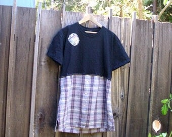 T-Shirt Dress. Ethicl Fashion. Funky Artsy Tunic