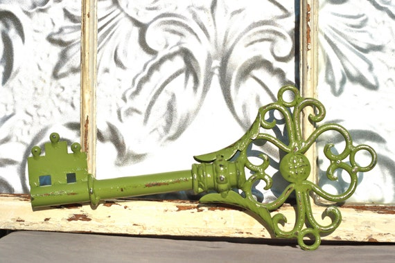 skeleton key wrought iron wall decor key by. Black Bedroom Furniture Sets. Home Design Ideas