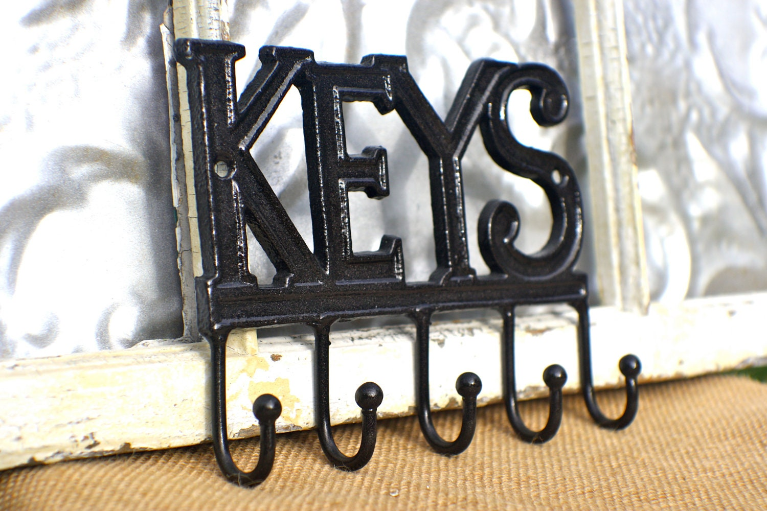 Key Rack/ Wall Decor Key Hook Holder/ Car by MichelleLisaTreasure