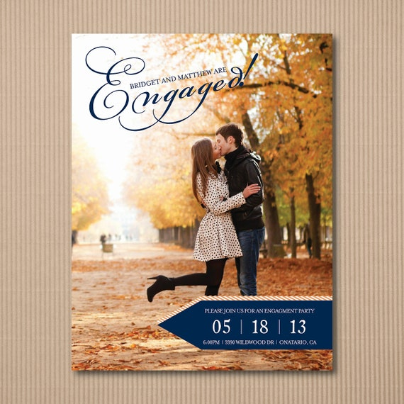 Diy engagement party invitation modern engagement for Etsy engagement party invites