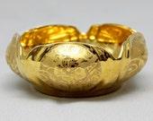 Gold Poppy Bowl, Stouffers Fine China, Bright Gold Glaze Over Porcelain Petal Bowl, Stouffers Fine China, ca. 1940s