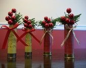 Red 12 & Yellow 20 ga. Shotgun Shell Ornaments - Set of 4 total