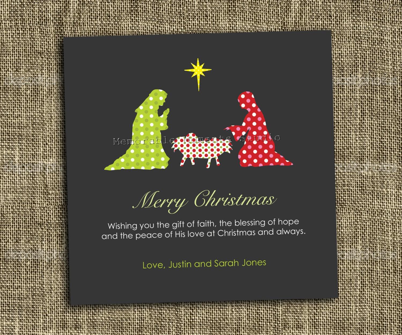 printable christmas card modern nativitymemorablemomentsst