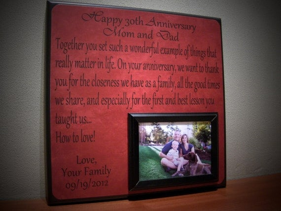 Wedding Anniversary Gifts: Good 30th Wedding Anniversary Gifts For ...