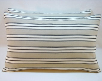 Stripe Decorative Accent Lumbar Pillow 11x18 Pillow Cover