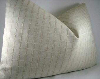Linen Tone on Tone Decorative Accent Linen Lumbar Pillow 15x20 Pillow Cover