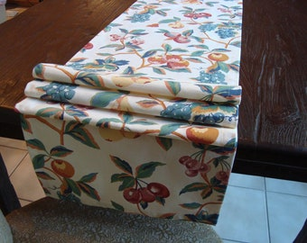 Decorative Table Runner Fruit Print 15x72 Runner