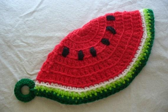 Vintage Watermelon Crochet Pot Holder