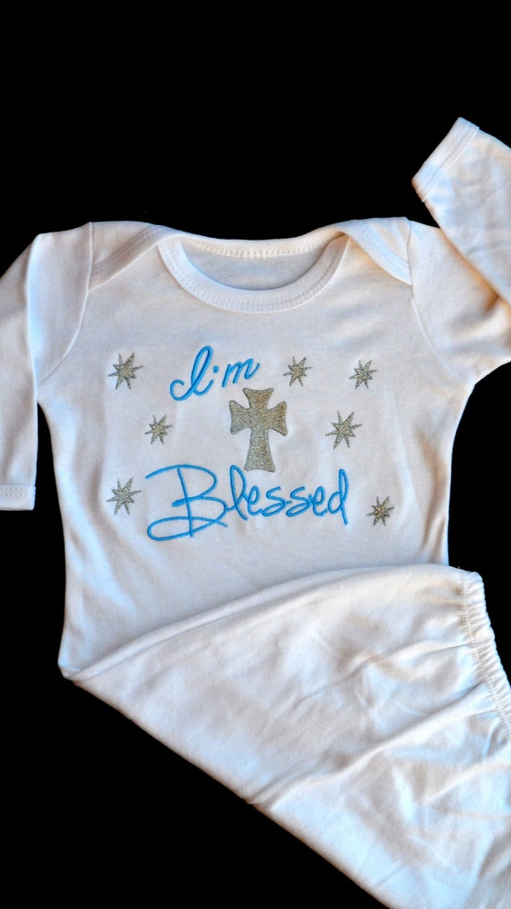 Items Similar To Baptism Gown Newborn Take Me Home Outfit