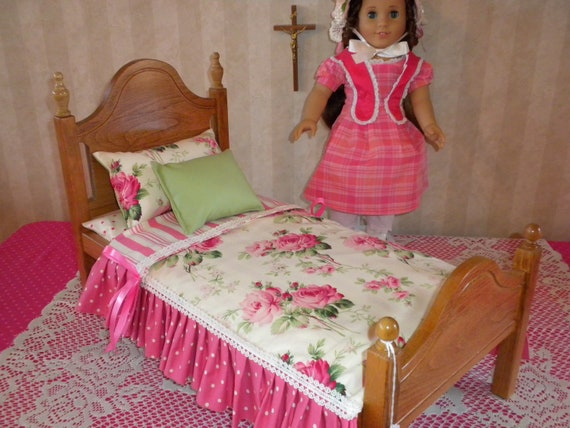 """Victorian Doll Bed for American Girl Doll or 18"""" doll"""