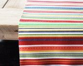 Fabric Table Runner: Colorful Stripes