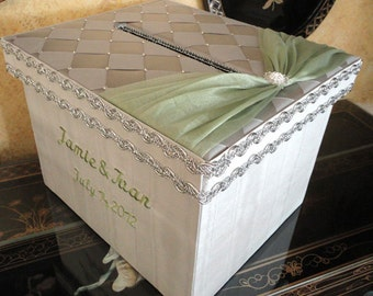 Personalized Wedding Card Box, Money Holder, Gift Card Box, Boxes, Reception Card Box, Custom Made