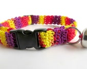 Adjustable Cat Collar with Bell- Mixed Berries