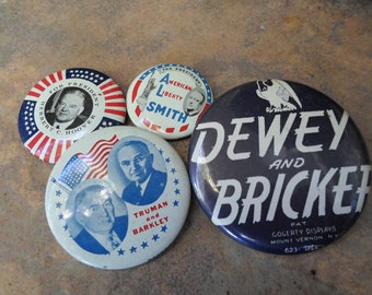 Vintage Collectible Election Buttons
