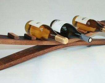 Wine Barrel Wine Rack For Wine Storage, Reclaimed Recycled Wood