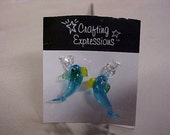 Destash Delicate Glass Dolphin Beads /focal /charms 1 pair