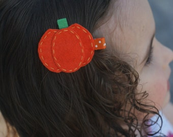 Halloween Pumpkin Hair Clip - Meet Miss Autumn